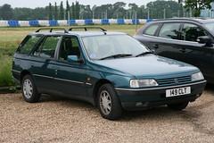 1995 Peugeot 405 Quasar 1.9TD estate (davocano) Tags: brooklands 149clt