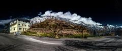 Boring Car Park (Elliott Bignell) Tags: park cloud mountain mountains alps london berg car clouds schweiz switzerland suisse swiss wolken ostschweiz berge alpine planes alpen svizzera rheintal parkplatz alp rhinevalley platanen walenstadt murg unterterzen walense