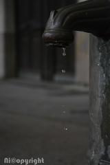 Chagrin de ferraille (nicopyright) Tags: eau fontaine robinet fuite