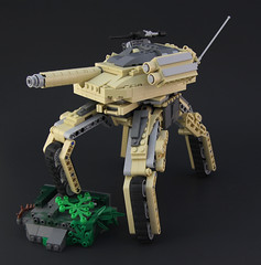 M1ATB Walker (DeadGlitch71) Tags: modern walking us tank lego transformer military walker weapon future cannon rockets custom abrams armored mech treads m240 m1abrams futureistic foitsop mechatank