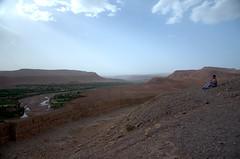 Kasbah panorama (marianovsky) Tags: panorama woman river morocco marruecos kasbah atbenhaddou marianovsky