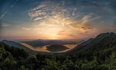 Iseo Lake (Italy) (Village9991) Tags: blue italy lake christo lombardy iseo iseolake floatingpiers thefloatingpiers