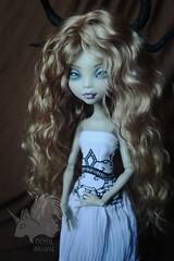 OOAK Lagoona Blue - Pastel Demon (skiurid_b) Tags: monster high etsy sell repaint custom handmade art cute girl dark devil mermaid wig mohair goat polymer clay