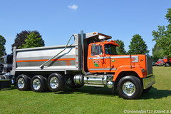 1990 Mack Superliner Tri-Axle Dump (Trucks, Buses, & Trains by granitefan713) Tags: truck antiquetruck showtruck vintagetruck mack macktruck atca atcamacungie macungie dumptruck enddump superliner macksuperliner mackrw triaxle triaxledumptruck