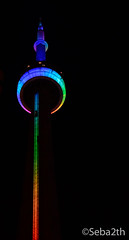 CN Tower Rainbow (sebmartinez@rogers.com) Tags: toronto cntower pride 2016 rainbowtower topride