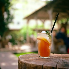 Lemonade (Saori_) Tags: film rolleiflex cafe czech prague praha