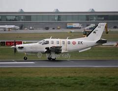 French Air Force / Armee De L'Air                             Socata TBM700                        105/XK (Flame1958) Tags: 105 dub dublinairport 1214 tbm 2014 xk tbm700 armeedelair socata frenchairforce socatatbm700 eidw 111214 105xk