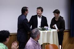Übergabe der Feldkirchner Chroniken an Gertraud und Raimund