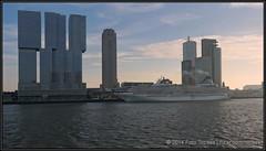 2014-12-14 Rotterdam - Artania - 1 (Topaas) Tags: rotterdam neworleans montevideo kopvanzuid worldportcenter wpc derotterdam wilhelminapier hollandamerikakade phoenixreisen artania sonya77 sonyslta77 sonyslta77v mvartania