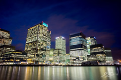 Them (Tim van Zundert) Tags: city india west london water architecture docks buildings reflections lights dock long exposure cityscape skyscrapers sony south voigtlander east wharf canary 21mm blackwall ultron a7r