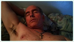 Monte Mendoza lounging 11 23 2014 (Monte Mendoza) Tags: shirtless man guy pits nipple cross dude uomo hombre homme ua noshirt armpits pecho sanschemise underarms axila sincamisa