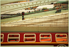 Gare des Guillemins, Lige, Belgium (claude lina) Tags: architecture train belgium belgique gare santiagocalatrava lige wallonie provincedelige garedesguillemins