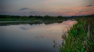 Basingstoke Canal at sun down