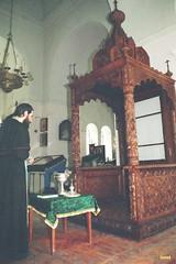 31. Освящение сени для Святогорской иконы Б. М. в Покровском храме 1997 г