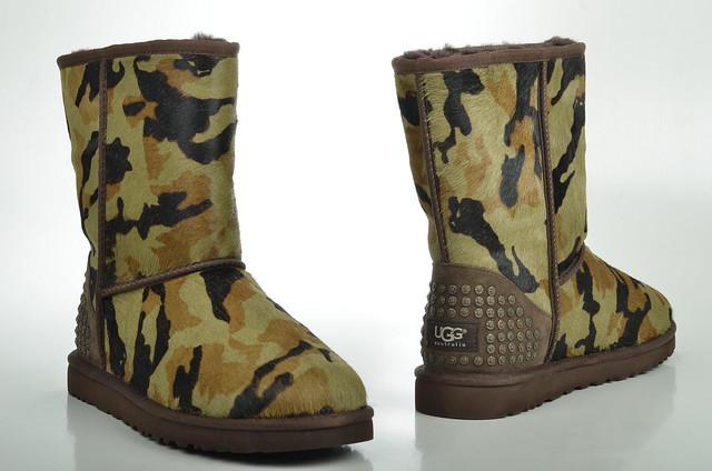 green boot mit australia camouflage grün ugg rowland nieten lammfell gefüttert uggaustralia 1003389 damenbootsgefüttert