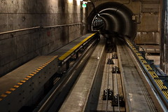 Connecting (N808PV) Tags: train airport track sony tunnel zuerich connecting rx100