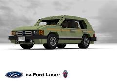 Ford Laser Ghia Hatchback (KA - 1981) (lego911) Tags: auto ford car model lego render sydney australia company 80s laser 1981 motor hatch mazda 1980s 85 challenge ka homebush ghia cad lugnuts hatchback povray 5door moc ldd miniland 5dr lego911 liketotally80s
