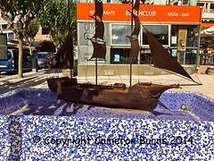 Fountain in Peguera (Cameron Burns) Tags: santa vacation espaa sun holiday sol water fountain sunshine boats island spain agua barcos fuente mallorca isla majorca baleares santaponsa ponsa ballearics