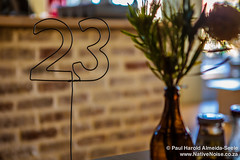 Our Table Number at Gourmet Boerie, Cape Town