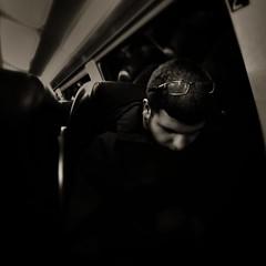 The sleeping giant (Andreas der Starke) Tags: sleeping home smart night train way giant glasses nacht good dream zug dreaming schlafend brille bahn deutsche gute traum gigant heimweg trumen