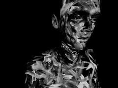 DSCN1887nnn (philip.lea1994) Tags: family white black art college portraits project paint camouflage backround