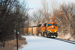 Fresh Snow and Sun at Independence (shawn_christie1970) Tags: railroad snow minnesota train unitedstates happybirthday coal independence bnsf wayzatasub bnsf6100 ccdmspc090