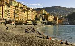 1 gennaio 2015 - Camogli , a mezzogiorno un tiepido sole ... (miriam ulivi) Tags: houses sea people beach mare liguria case camogli spiaggia nikond3200 miriamulivi