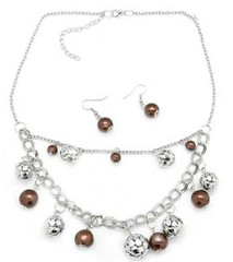 5th Avenue Brown Necklace P2310-3