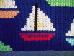 Pixeldecke Schiff (Lisas Welt) Tags: d crochet blanket hkeln