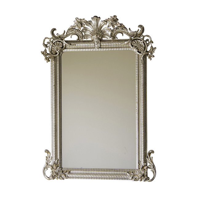 Régence Style Silvered Mirror, France c.1880