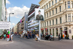 Checkpoint Charlie 2014_7792 (hkoons) Tags: city houses house color berlin home architecture buildings germany army living town community war europe crossing russia military capital border structures police structure hues german commercial berlinwall spy conflict residence population multicolored drama habitat twostory residential mitte tenement eastberlin coldwar checkpointcharlie bordercrossing multistory abode residences westberlin soviets northerneuropeanplain