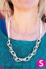 5th Avenue White Necklace K2 P2620-4