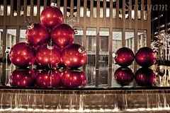 Fragile Happiness (saiyyam arts) Tags: christmas street new york city nyc newyorkcity winter light shadow red holiday newyork cold reflection love water fountain pool beautiful metal buildings happy lights waterfall holidays shadows manhattan metallic joy decoration rockefellercenter happiness center midtown ornaments rockefeller avenue decor radiocitymusichall fragile 6thavenue 6th 49th 49thstreet 49thst 50thstreet 50thst exxonbuilding