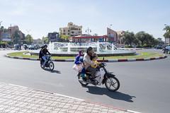 Moroccan Traffic (Koen Bouman) Tags: life road street city trip travel people urban sun bike photography traffic au clear morocco journey maroc marrakech fujifilm marrakesh everyday moped marokko ordinary 14mm xe1