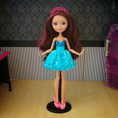 """Briar's """"Blue Belle"""" Convertible Dress (CosmoMoore) Tags: cute fashion monster high doll dolls handmade sewing lolita kawaii after etsy ever"""