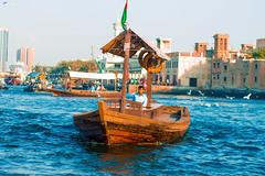 A Boat (Paulo_Photography) Tags: old blue sea boat dubai alone uae souq