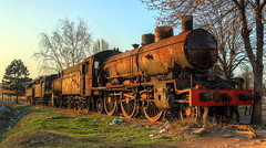Neglected heroes (ToopaGia) Tags: train rust transport trains locomotive voz hdr lokomotive urbex lokomotiva vozovi