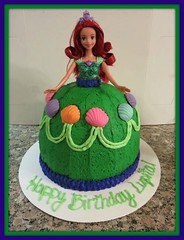 Little Mermaid Cake by Jenn,  Santa Cruz, CA, www.birthdaycakes4free.com