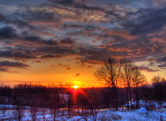 hdr1-2 (J.Durdov) Tags: morning trees red sky orange sun water colors clouds sunrise canon river landscape colours powershot land rise scape hdr sx510