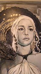 daenerys 2 (mc1984) Tags: portrait painting flickr dragon canvas serie daenerys mc1984 gameofthrones