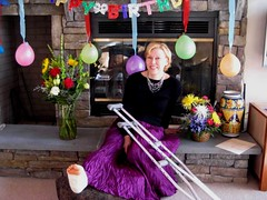 Mary_Anns_50th (cb_777a) Tags: broken foot toes leg cast crutches ankle