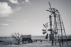 Down And Out (Pedalhead'71) Tags: house abandoned windmill landscape mono us washington unitedstates roosevelt ghosttown goodnoehills