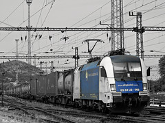 MRCE Dispolok 182 568 (boti_marton) Tags: bw train lumix blackwhite europa hungary budapest transport siemens cargo panasonic locomotive taurus dmc freighttrain magyarorszg 182 wlc mrce eurosprinter lz20 wienerlokalbahnen es64u2 mrcedispolok wienerlokalbahnencargo
