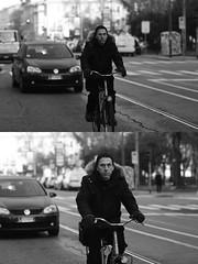 [La Mia Citt][Pedala] (Urca) Tags: portrait blackandwhite bw bike bicycle italia milano bn ciclista biancoenero mir bicicletta 2015 pedalare dittico 83925 nikondigitale ritrattostradale
