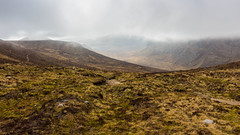 The head on the clouds, the feet on the ground. Literally (Edouard Trichereau) Tags: ireland wild irish cloud mountains crazy wind head hiking hike northern mourne violent