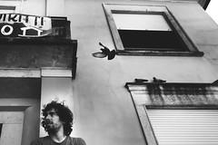 Luca // Casa dei diritti Don Gallo (Irene Leonetta Guarneri) Tags: portrait blackandwhite italy monochrome birds bn biancoenero padova maleportrait dongallo