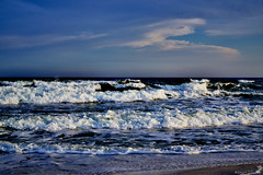Afternoon Whitecap Waves (Stuart Schaefer Photography) Tags: ocean sunset sea sky sun seascape beach water skyline clouds outdoors coast surf day waves florida outdoor shoreline bluesky shore cloudscape landsacpe navarrebeach sonyalpha whitecapswaves sonya7rm2