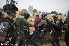 Prtoest marking 68 years for the Palestnian Nakba, Bil'in, West Bank, 13.5.2016 (activestills) Tags: bicycle palestine westbank protest demonstration bilin arrest occupation borderpolice policeviolence orenziv topimages nakbaday palestinianpopularstruggle