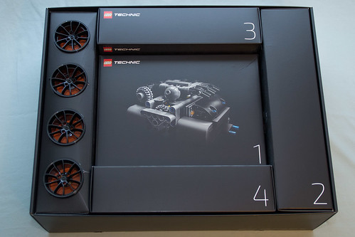42056 Lego Technic Porsche 911 Gt3 Rs Box Interior Without