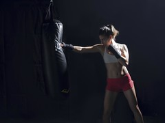 Punch (ImaginemProductions) Tags: sf portrait woman sports muscles speed bay high cool action kick panasonic area strong punch boxing combat fitness tough productions imaginem gh4